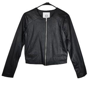 Faux Leather Jacket Black Motorcycle